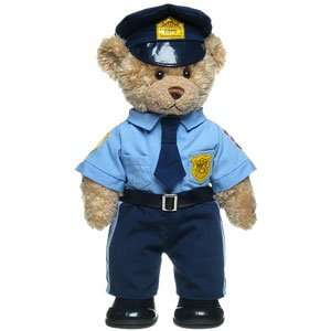 Build A Bear Workshop Police Officer Curly Teddy Toys & Games