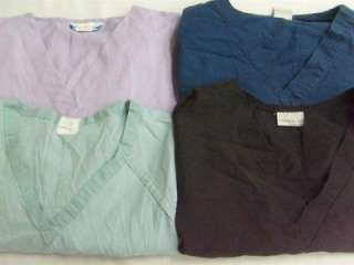 Nurse Medical Dental Vet Scrubs Lot Solid Color Shirts Tops 2XL XXL 2X