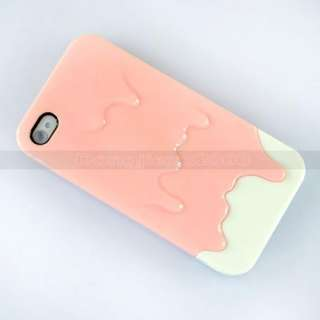 Pink Sweet ice Cream Hard Slider Case Cover For iPhone 4G 4S