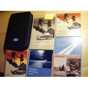 2003 Ford Explorer Sport Trac Owners Manual Ford Books