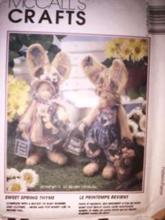 UNCUT McCalls Pattern Sweet Spring Thyme 8087 16 Bunny