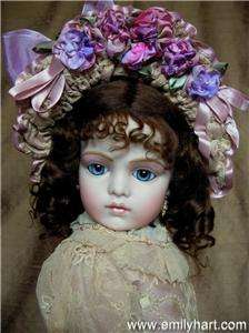 Bru jne 13 French Bebe porcelain doll by Emily Hart in Silk & Tambour