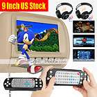 Car dvd player beige 9 DUAL DVD HEADREST MONITORS With Games Radio