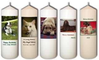 Personalized Custom Pet Candles from Goody Candles Photo Candles