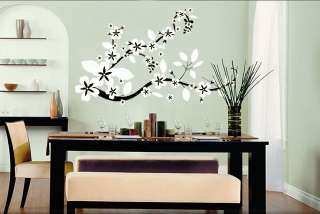 Vinyl Wall Decal Sticker Flower Floral Asian Blossom
