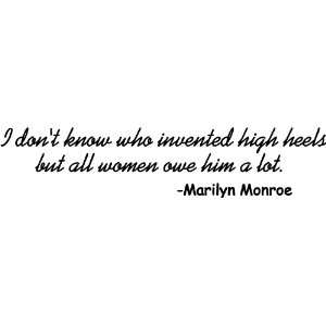 I Dont Know Who Invented High Heels Marilyn Monroe Vinyl