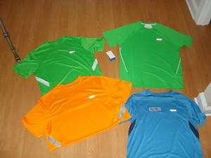 Reebok Mens Orange, Lime Green OR Blue Athletic Shirt