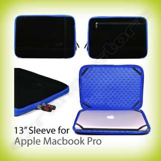 13.3 Black/Blue Laptop Sleeve Case Bag Cover for Apple Macbook Pro