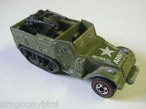 Vintage Collectible 1974 Red Line Hot Wheels Army Gun Bucket