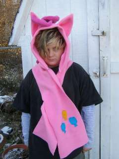 Pony Custom plush Hoodie Scarf MeMe PINKIE PIE Hat hood MLP FIM