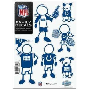 Indianapolis Colts 5in x 7in Family Car Decal Sheet