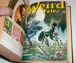 Weird Tales Bound Volume Horror Pulp Magazine Collection Run 66pc Lot