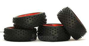 4x 1/10 off road Wheel,Rim &Tyre(Tire),Front &Rear RED2