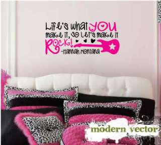Hannah Montana Miley Cyrus Quote Vinyl Wall Decal