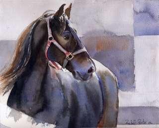 PRINT Friesian Horse Morgan Standardbred Painting Art