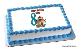 Monsters vs Aliens Birthday Edible Image Cake Topper