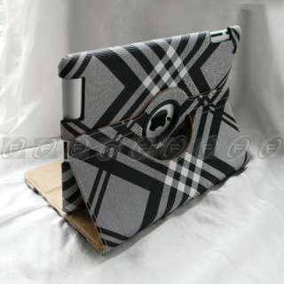 iPad 2 Graffiti Style 360° Rotating Smart Cover Leather Stand Case