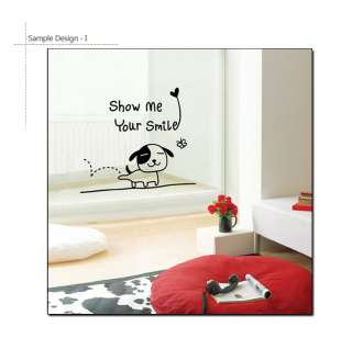 SMILING PUPPY ★ Nursery Kids Wall Decor STICKER Decal