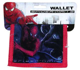 Marvel SPIDER MAN 3 Bifold Kids Wallet Boys RED NWT