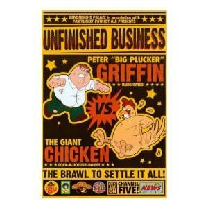 Family Guy Poster Unfinished Business Peter and Chicken