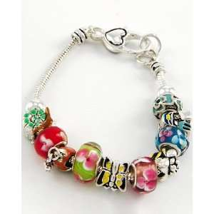 Glass Beads & Spring Themed Charms Silver Plated Beads & Findings