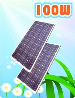100w solar panel for 12vdc battery charger Power Jack