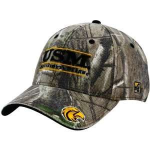 Southern Miss Golden Eagles Camo 3 Bar Stretch Fit Hat Sports