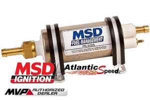 MSD HIGH PRESSURE / HIGH FLOW IN LINE ELECTRIC FUEL PUMP EFI, 43 GPH