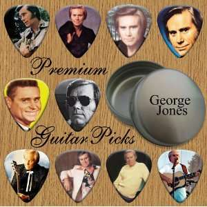 George Jones 10 Premium Guitar Picks In Tin (0) Musical