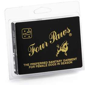 Four Paws BLACK Sanitary Pants Dogs in Heat NEW PRODUCT