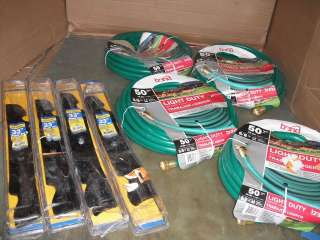 LOT OF 4 GARDEN HOSES 4 CUB CADET 33IN BLADES SETS