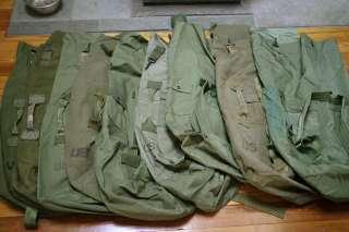 Lot 10 US Army Military Issued Heavy Duty Waterproof Nylon Duffle Bag
