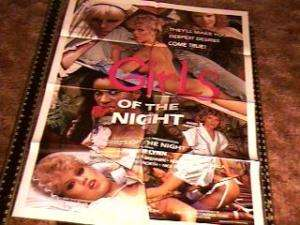 GIRLS OF THE NIGHT MOVIE POSTER AMBER LYNN