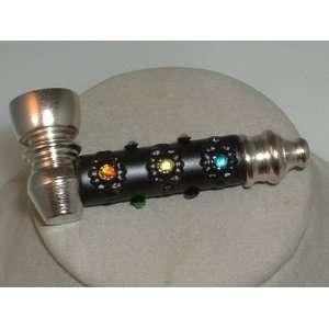 multi colored rhinestone metal flavored tobacco pipes