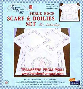 Southern Belle Table Runner Doilies Stamped Embroidery