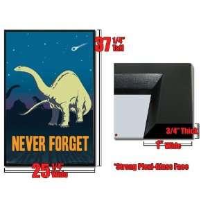 Framed BP Gas Dinosaur Poster Never Forget Extinct:  Home