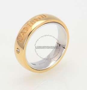 Damiani 18K White & Yellow Gold Dual Band Ring