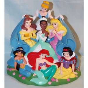 Disney World Princess Tiana Belle Ariel Jasmine Bank Toys & Games