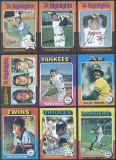 1975 Topps Complete Baseball SET Brett Yount Aaron Ryan Schmidt Rose