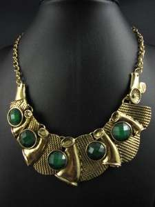 Ethnic India Style Fashion Gold Tone Pendant Necklace Chains MS2094