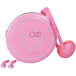 Hello Kitty KT2038 Pink Bling Personal CD Player