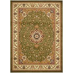 Lyndhurst Collection Sage/ Ivory Rug (8 x 11)