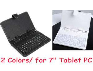 Keyboard Leather Case Cover Bag + Pen for 7 Inch Tablet MID PC