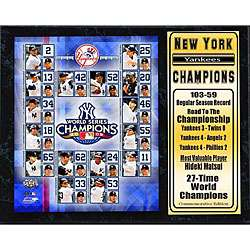 Yankees 2009 World Series Champions Plaque