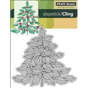 Penny Black Cling Rubber Stamp, Holly Tree