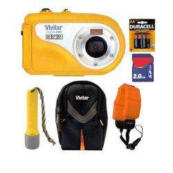 Vivicam V8400 8.1MP Yellow Underwater Digital Camera with 2GB Kit