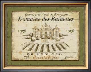 French Wine Labels III Poster by Daphne Brissonnet at AllPosters