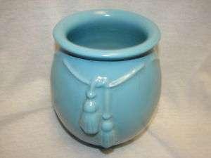 Vintage Blue Weller Pottery Vase   Large