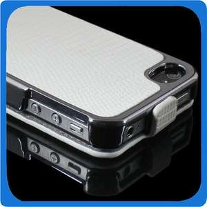 Deluxe Snake Flip Leather Chmore Case Cover Skin for Apple iPhone 4S 4