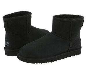 UGG Australia Womens Classic MINI Boot SheepSkin BLACK size 6 7 8 9